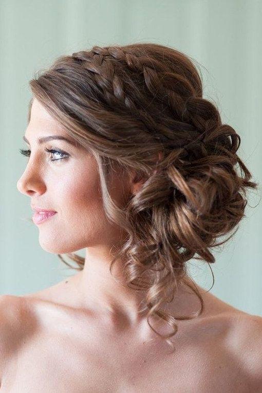 Brautfrisuren geflochten mit schleier  Die 25+ besten Frisur seitlich Ideen auf Pinterest ...