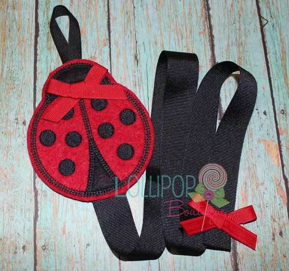 Red and Black Ladybug Felt Bow Holder, Felt Bow Holder, Bow Holder, Clippie Keeper