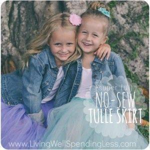 No-Sew Super Full Tulle Skirt {DiY}