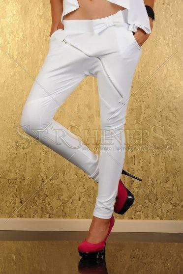 Pantaloni Mexton Angel Vision White