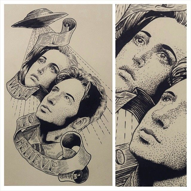 204 Best X-files Tattoos Images On Pinterest