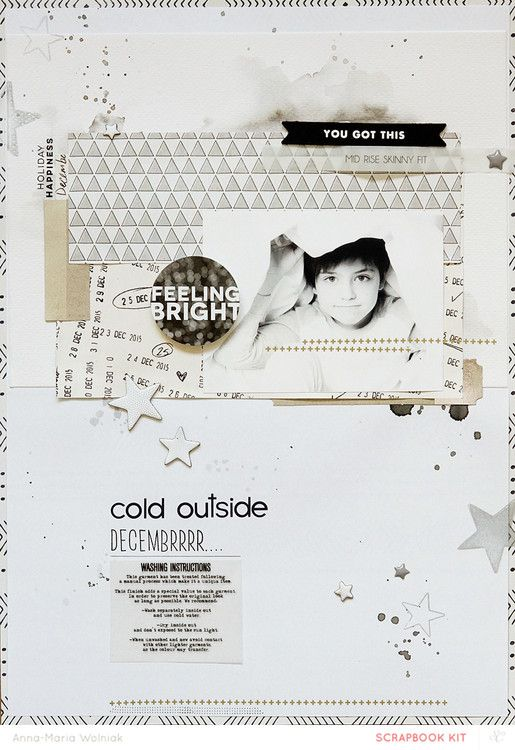 #papercrafting #scrapbook #layouts: decembrrrr... by aniamaria at @studio_calico