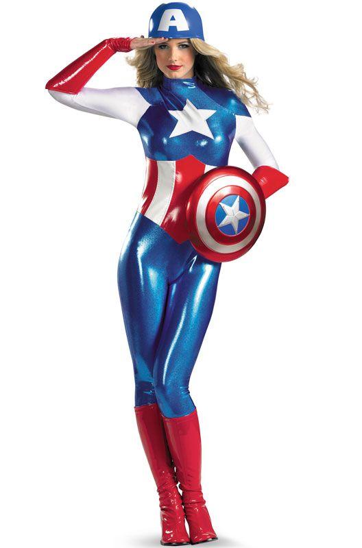 74 best sexy superheroes vs villainous vixens images on pinterest cat women comics and costumes - Captain america fille ...
