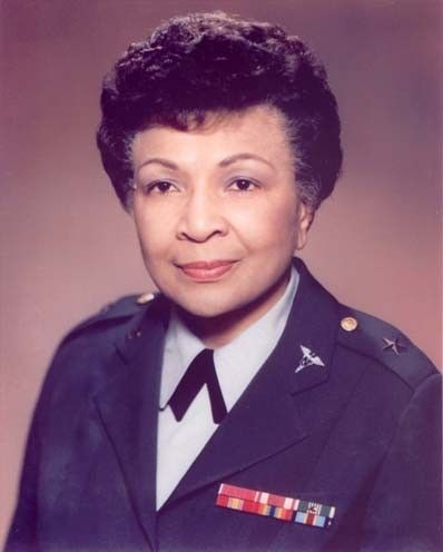 Brigadier General Hazel W. Johnson-Brown. The first African American female General and the first Black Chief of the US Army Nursing Corps.
