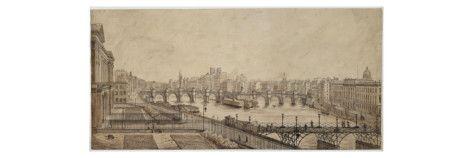 Le pont des Arts Giclee Print - AllPosters.co.uk