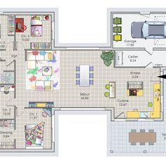 Découvrez les plans de cette une maison bois agréable à vivre sur www.construiresamaison.com >>>