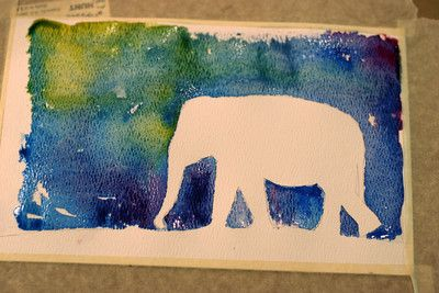 Watercolor silhouettes. I so want to try these with the kids, very pretty.: Animal Art Projects Preschool, Crafts Ideas, Elephants Silhouette, Watercolor Elephants, Animal Silhouette, Watercolor Silhouette, Awesome Ideas, Watercolor Projects, Elephants Crafts