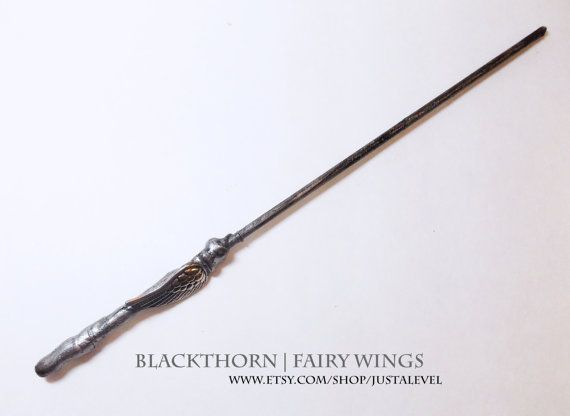 Silver Flight Harry Potter Inspired Wand Blackthorn  by JustALevel