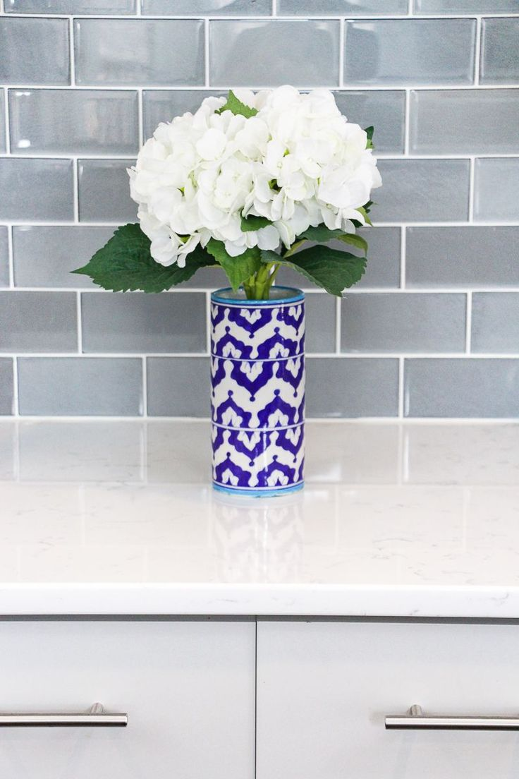 White marble subway backsplash tile countertop espresso cabinet from - 21 Best Kitchen Backsplash Ideas To Help Create Your Dream Kitchen Glass Subway Tile Backsplashpainting Tile Countertopssubway