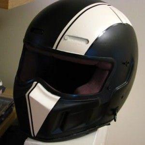 bandit helmet custom paint stripe