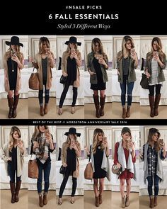 Nordstrom Anniversary Sale 2016 // 6 Picks styled 3 different ways // fall outfit ideas // fall essentials