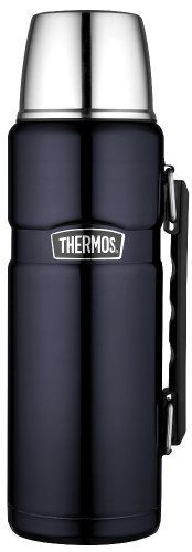 Thermos Stainless King 40-Ounce Beverage Bottle, Midnight Blue Thermos