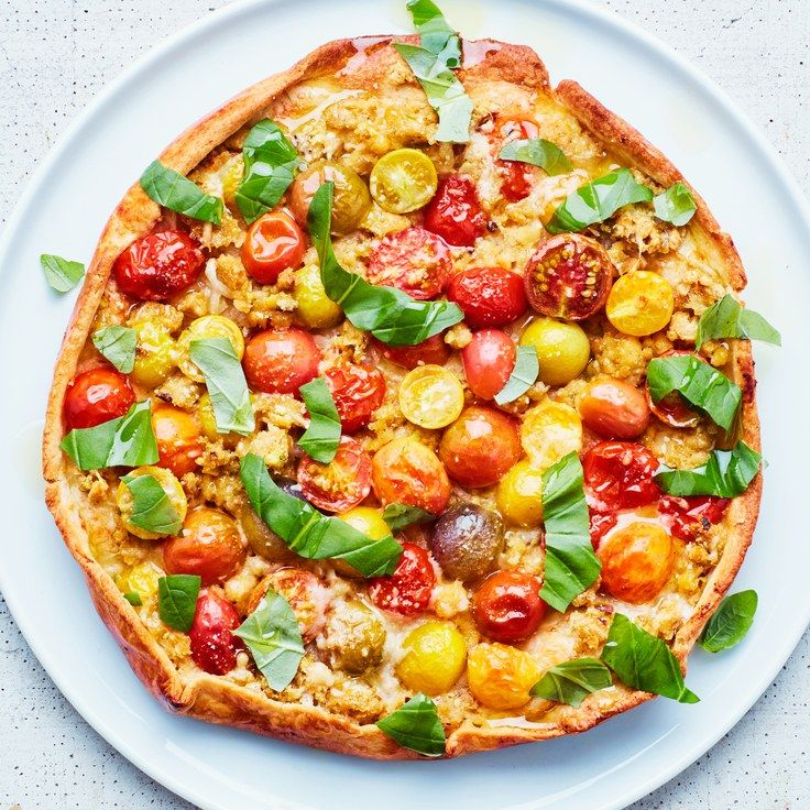 Tomato Tart with Chickpea Crumble