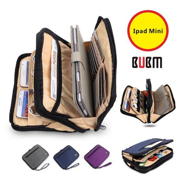 BUBM Double Bilayer Fashion Sleeve Case Storage Case For iPad Mini…