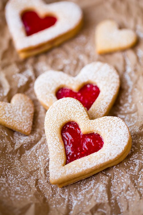heart filled cookies