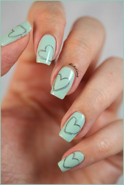 My mint nails for Talia Joy #mintmanisfortaliajoy #taliaslegacy