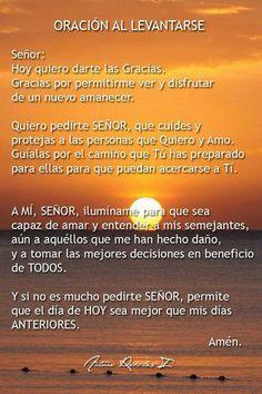 Oración al levantarse