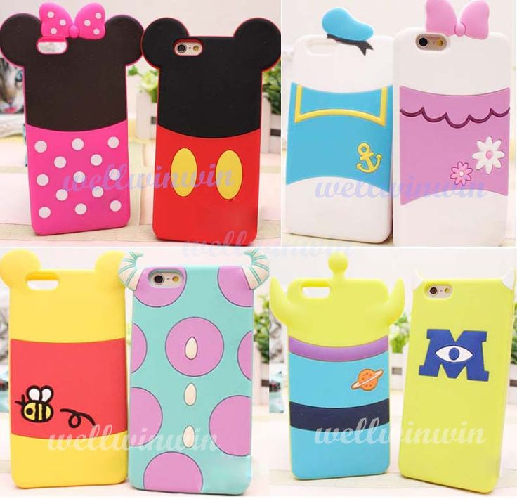 New Cute Disney Cartoon Mickey Soft Silicone Back Case Cover For iPhone 6 6 Plus #UnbrandedGeneric