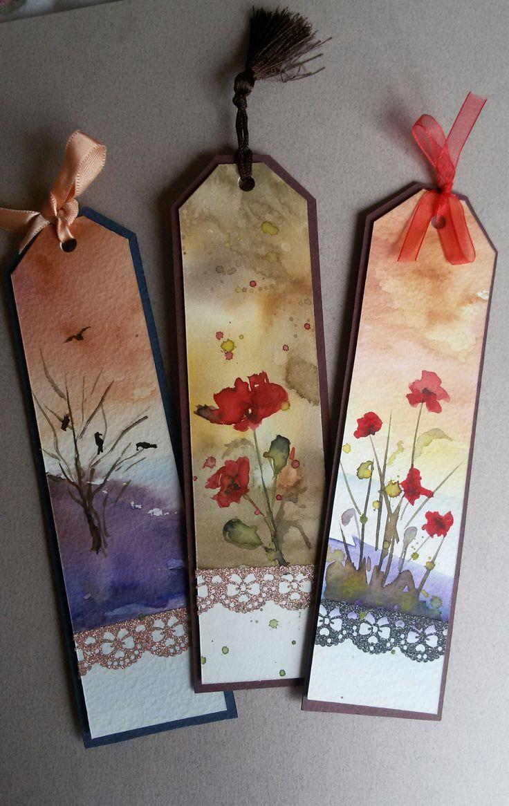 Watercolor bookmark patterns - Suluboya Kitap Ayra Lar Watercolor Handmade Orijinal Bookmarks Https Www