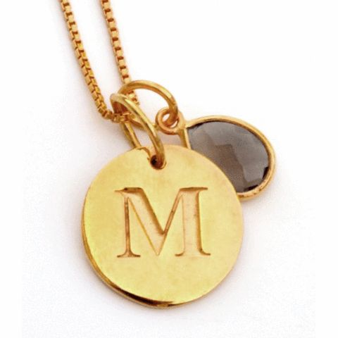 Beloved Necklace Letter Pendant Gold - Nordic Grace Accessories