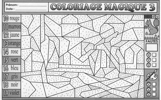 1000 images about coloriages magiques on pinterest - Coloriage code ce1 ...