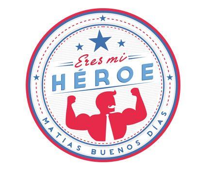 Pegatina eres mi héroe