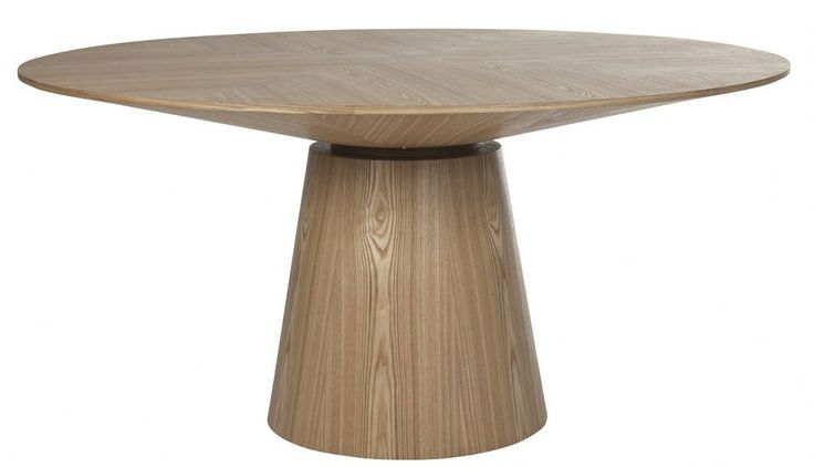 round wood pedestal dining table