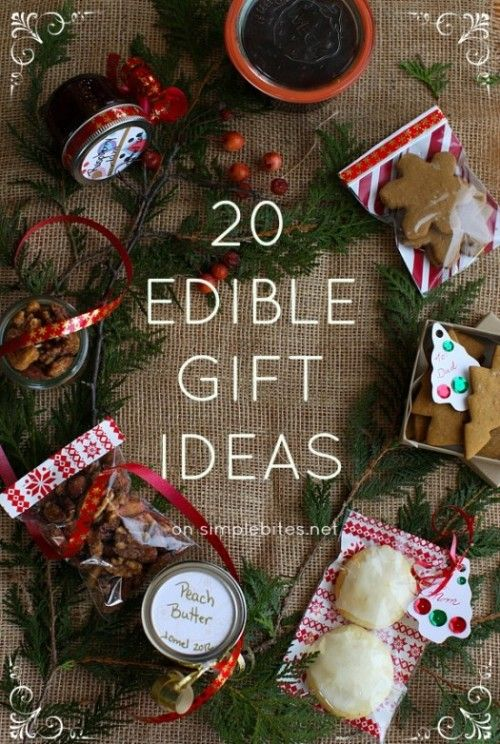 20 Edible gift ideas on simplebites.net