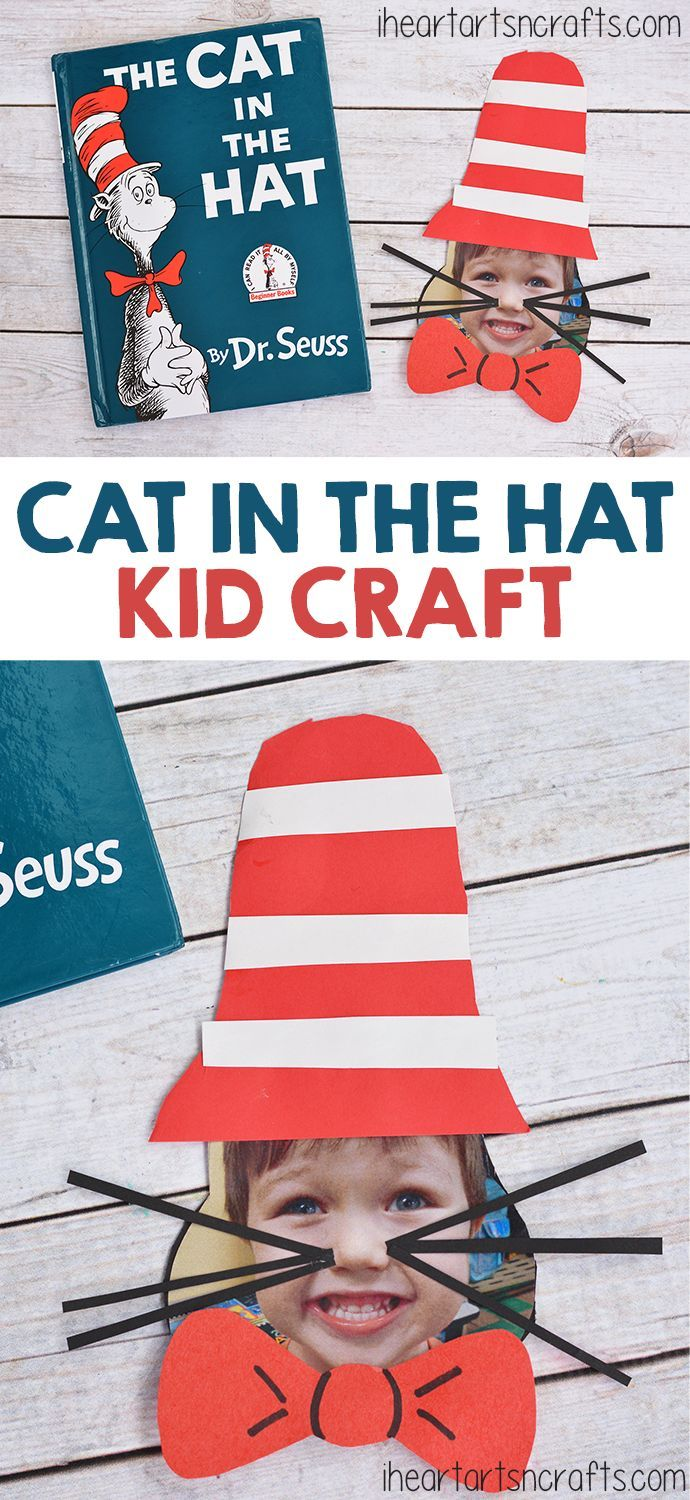 Cat In The Hat Dr. Seuss Craft For Kids .... How adorable is this!!!