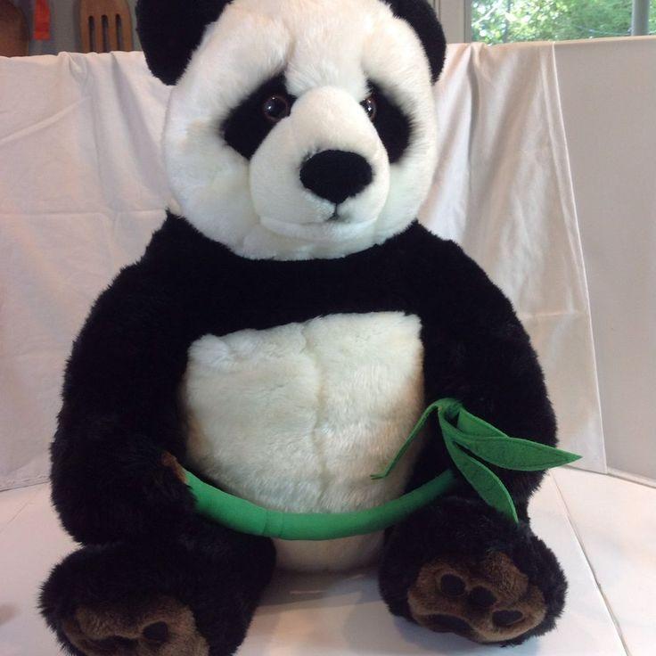 "FAO Schwarz Tush Tag Plush Giant 28"" Panda Bear Soft Stuffed ..."