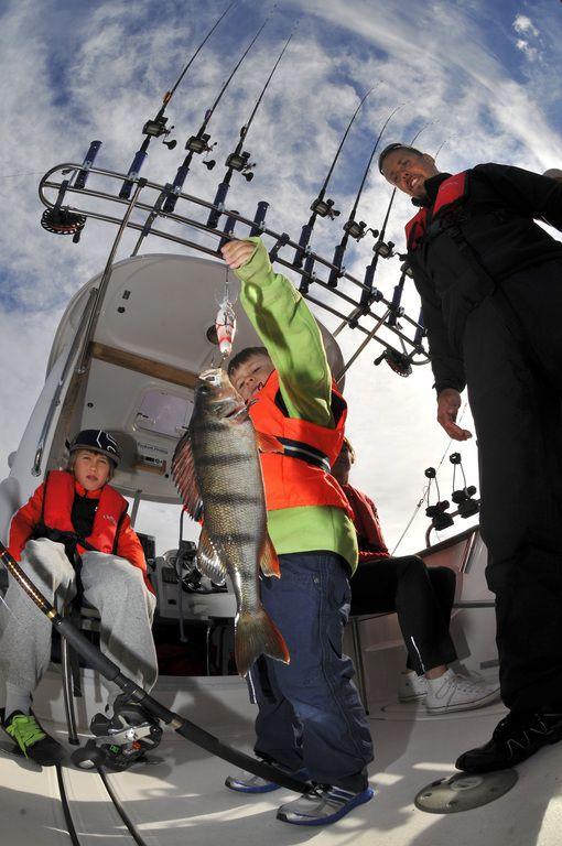 Typisch Vuokatti: Angler an Bord