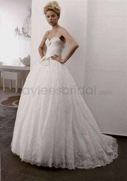 Awesome wedding dresses sweetheart neckline ball gown lace 2017