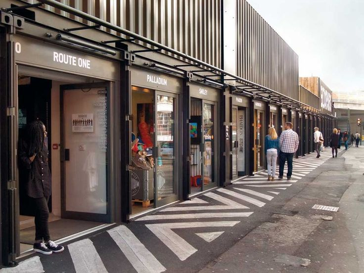 Temporäre Container Mall Boxpark Shoreditch London Waugh Thistleton