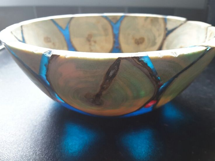 Second wood and resin bowl.