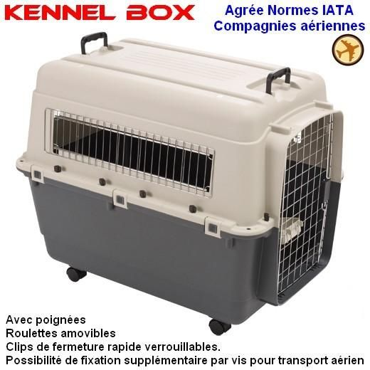 Cage de transport Kennel Box pour chien ou chat (Modèle avion) - image 1