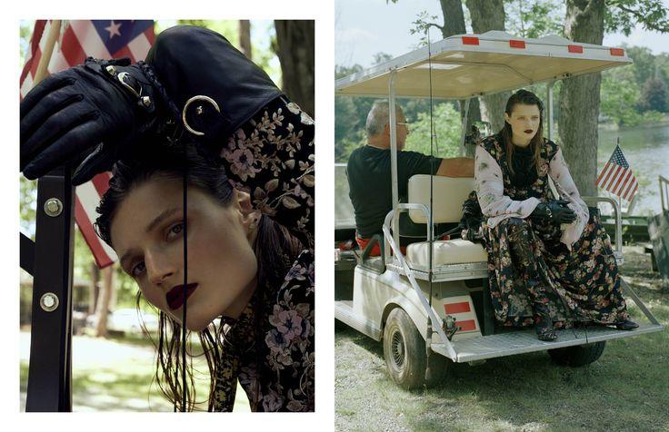 LEFT: DRESS ROCHAS GLOVES BALENCIAGA BELT USED AS SCARF CELINERIGHT: DRESS ANTONIO MARRAS…