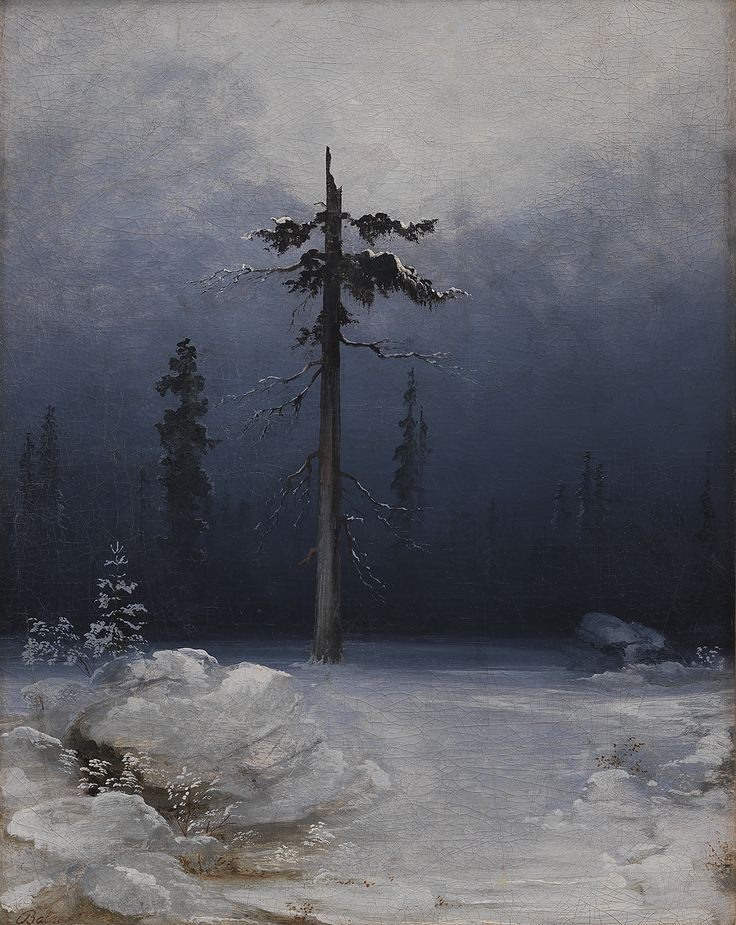 Tree in a Wintry Forest | Peder Balke | 1850's | Statens Museum for Kunst | CC0