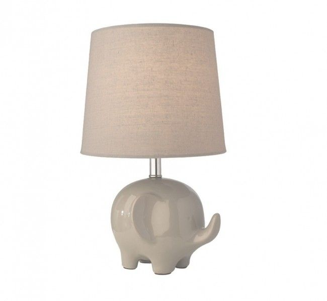 Ellie elephant table lamp grey