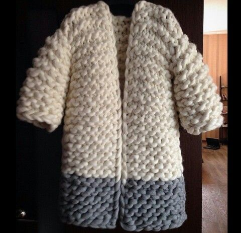 big chunky wool cardigan coat sweater