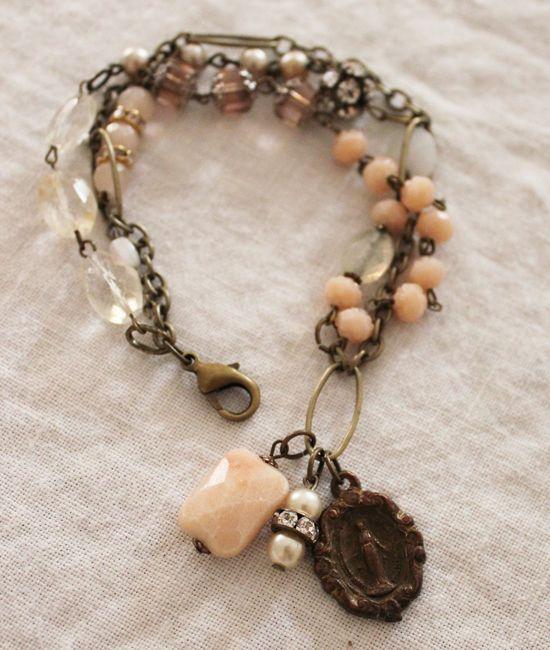 Precious Peach Bracelet ~ Andrea Singarella