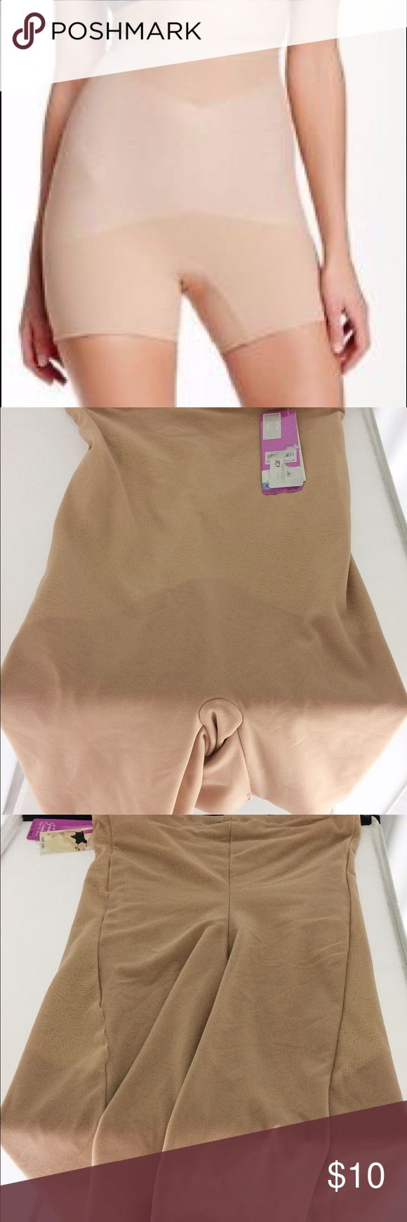 Spanx Star Power Super High Girl Short XL This item is brand new, never worn.  Has a small tear on the right side (see image 4).  No stains or tears.  Item was pulled from a major department store to make room for other items. SPANX Intimates & Sleepwear Shapewear