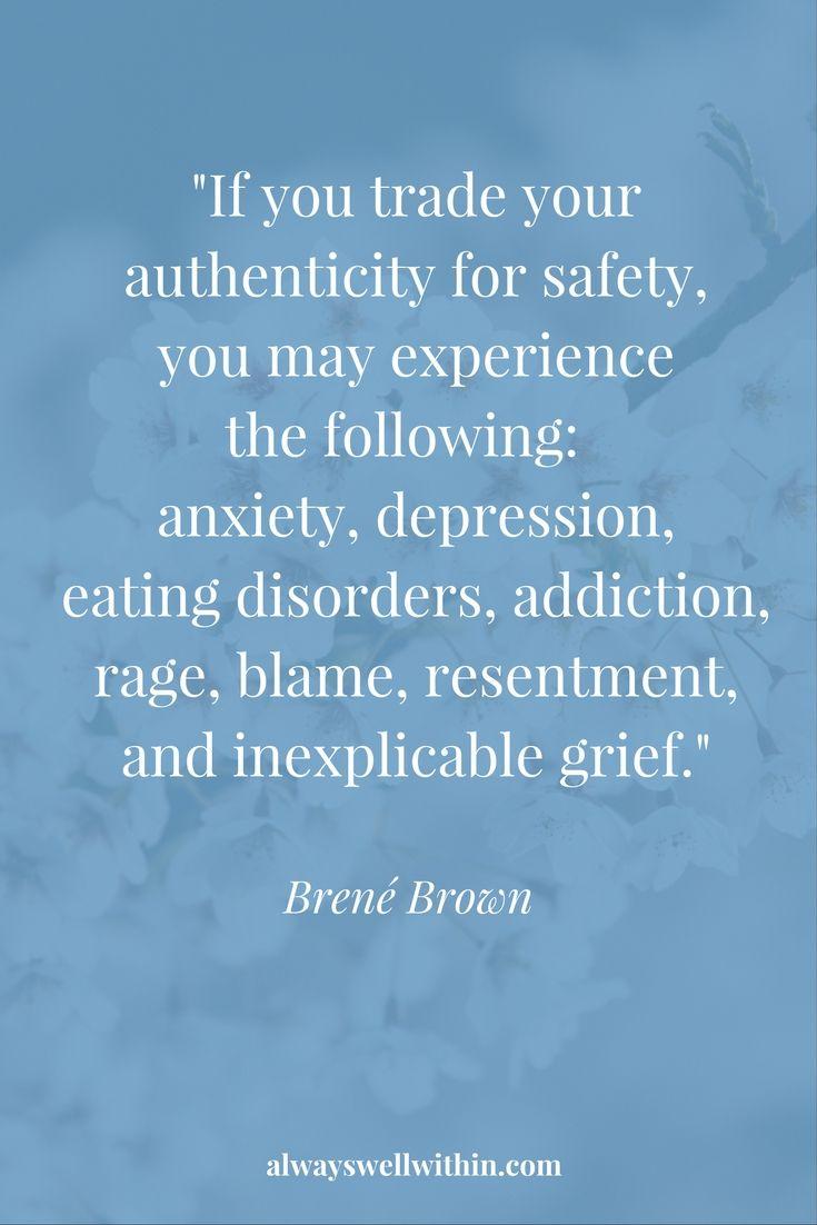 Brené Brown Quote. Authenticity.