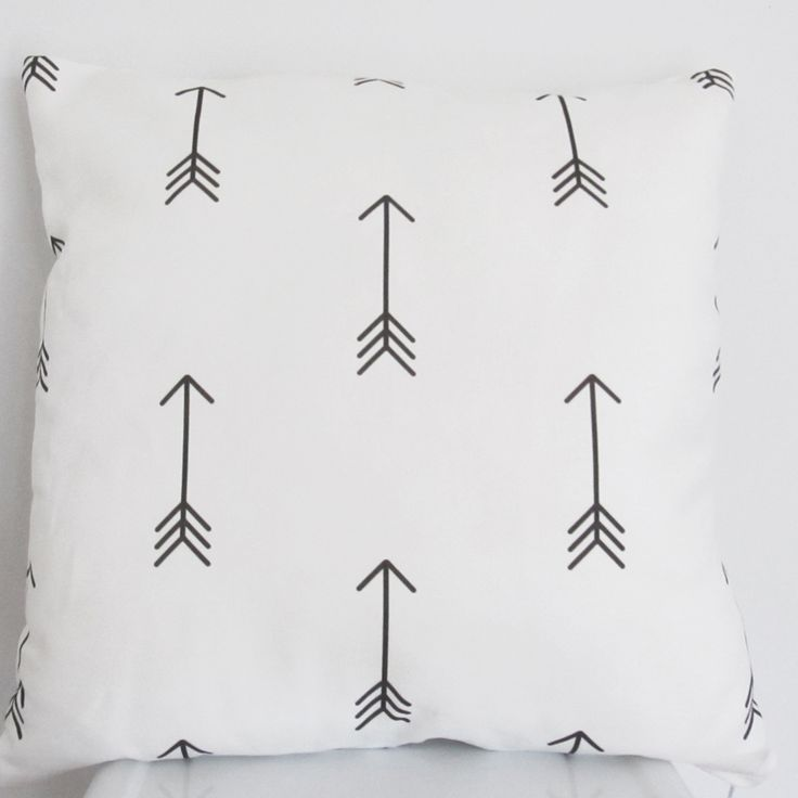 Black and White Arrows Cushion | charlie jane