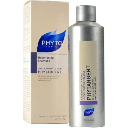 Phyto Phytargent Whitening Shampoo, Gray and White Hair (6.7 oz)