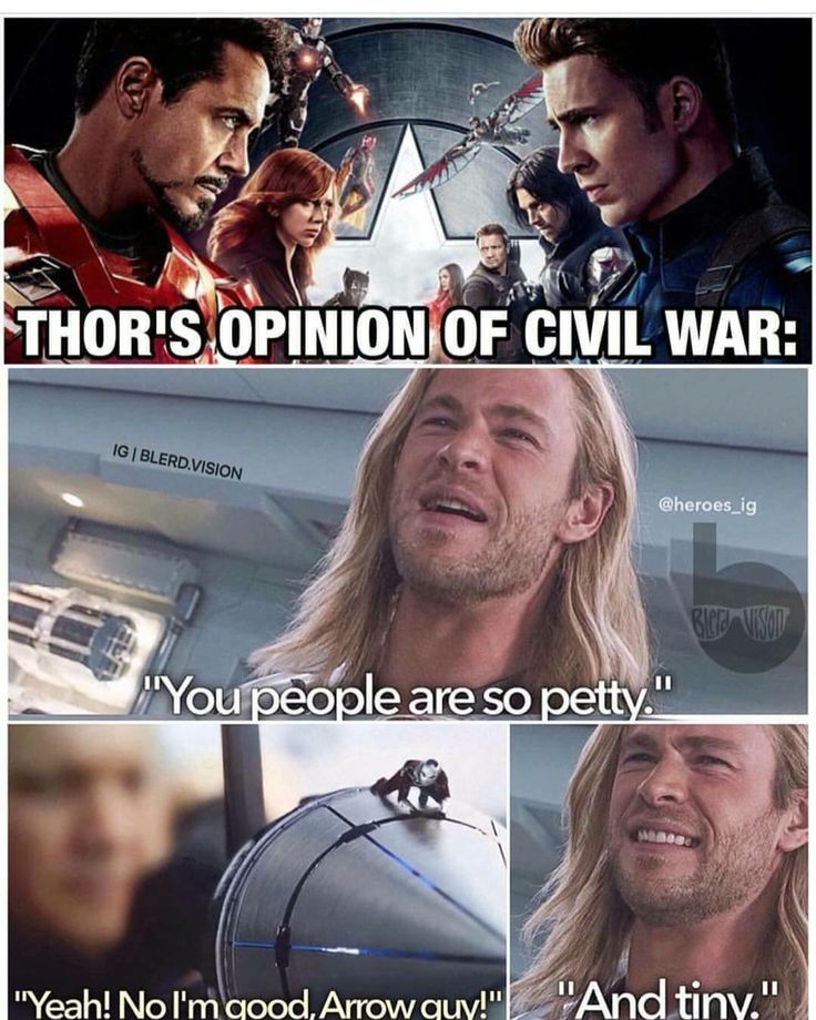 How Thor sees Civil War - visit to grab an unforgettable cool 3D Super Hero T-Shirt!