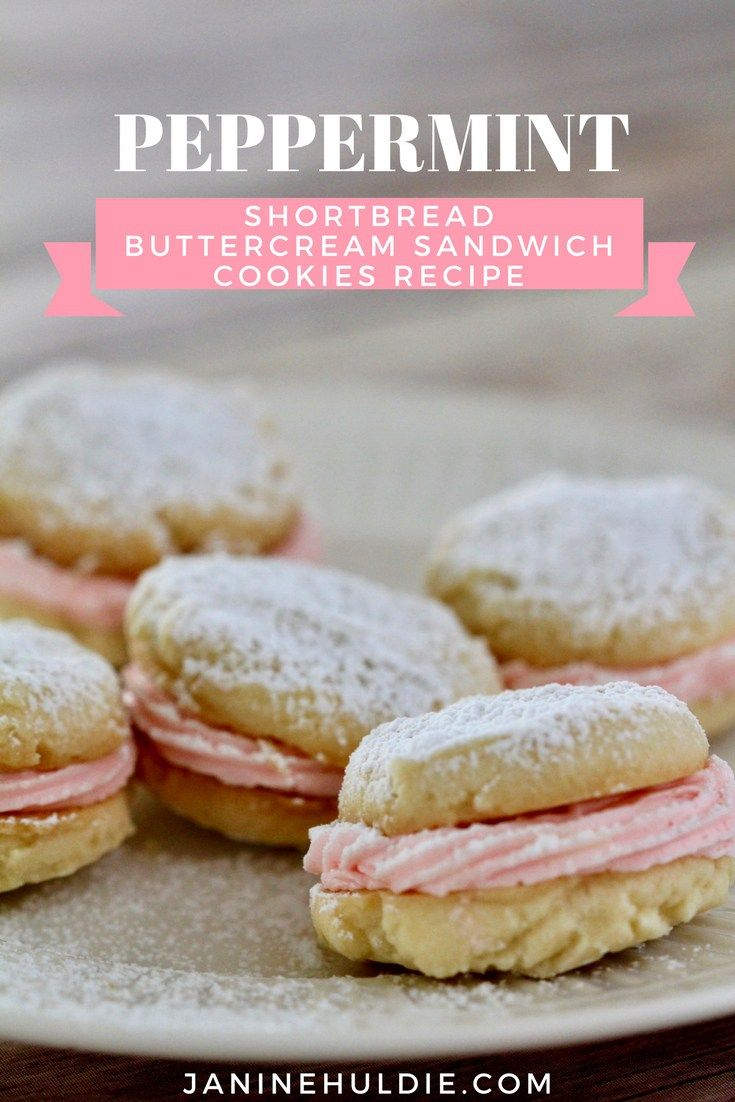 Peppermint Buttercream Shortbread Sandwich Cookie Recipe | Confessions of a Mommyholic - Featured at the Home  Matters Linky Party 163