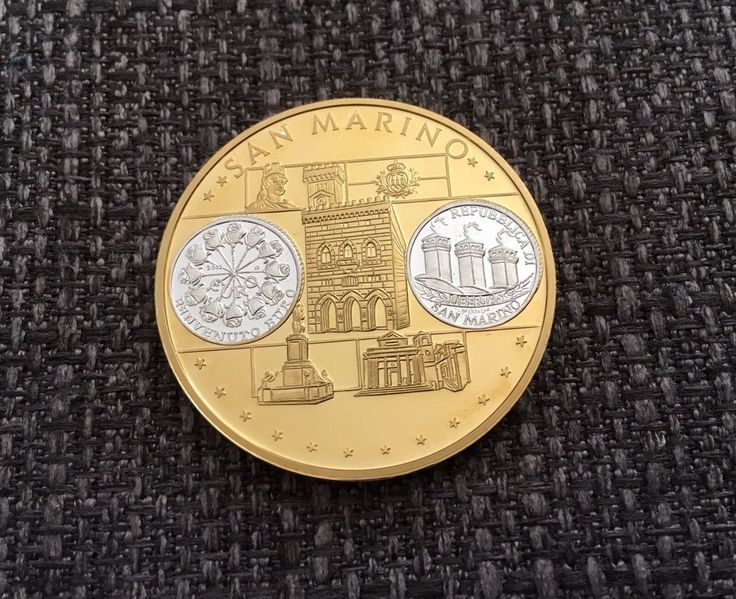 San Marino Euro Münze / Medaille Gold / Silber PP  | eBay