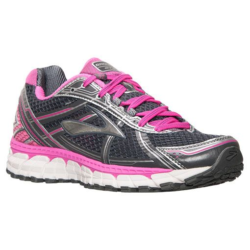 Women's Brooks Adrenaline GTS 15 Running Shoes | Finish Line |  Magenta/Charcoal/Silver