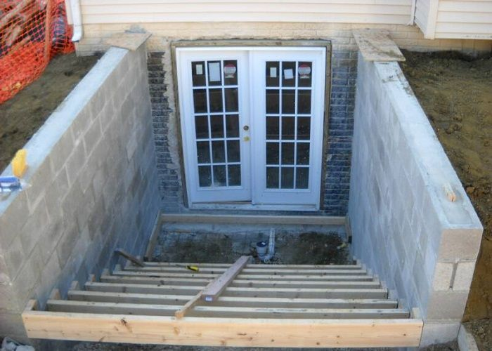 Image result for walkout basement construction
