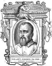 Giovanni Antonio de' Sacchis (1484 – 1539), bekend als Il Pordenone, was  een Italiaanse maniëristische schilder.  Vasari, zijn belangrijkste biograaf,  identificeert hem ten onrechte als Giovanni Antonio Licinio